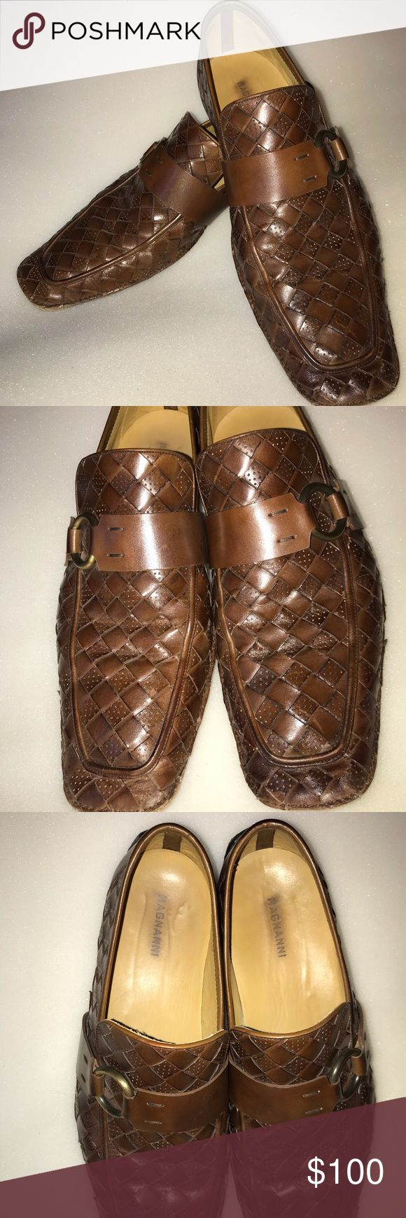 10 M Magnanni handmade Italian loafers OUTSTANDING These woven Men's size 10 m...
