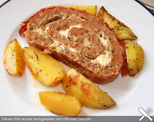 Mediterranean meatloaf with oregano - potatoes, a nice recipe from the c ...