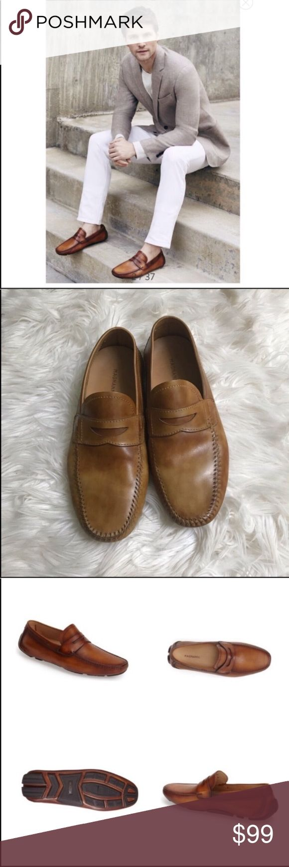 Magnanni men's loafers / drivers 8.5 Purchased at Nordstrom in excellent condi...
