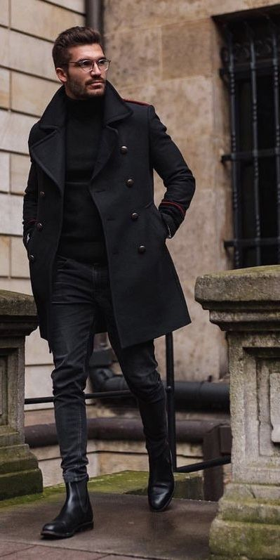Winter Style - All Black Outfits For Men