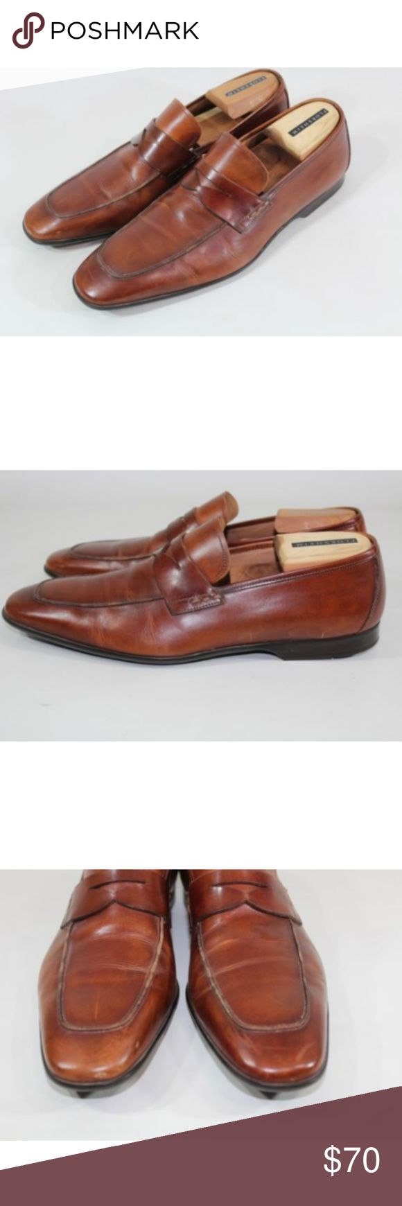 Magnanni Ramiro Mens Brown Leather Penny Loafer - Magnanni Ramiro Mid Brown Leat...
