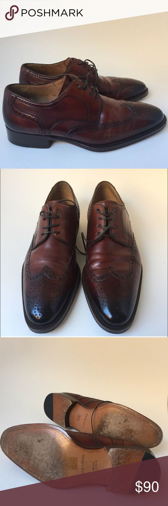 Magnanni Leather Wing Tip Oxfords Magnanni Leather Wing Tip Oxfords. Men's U...