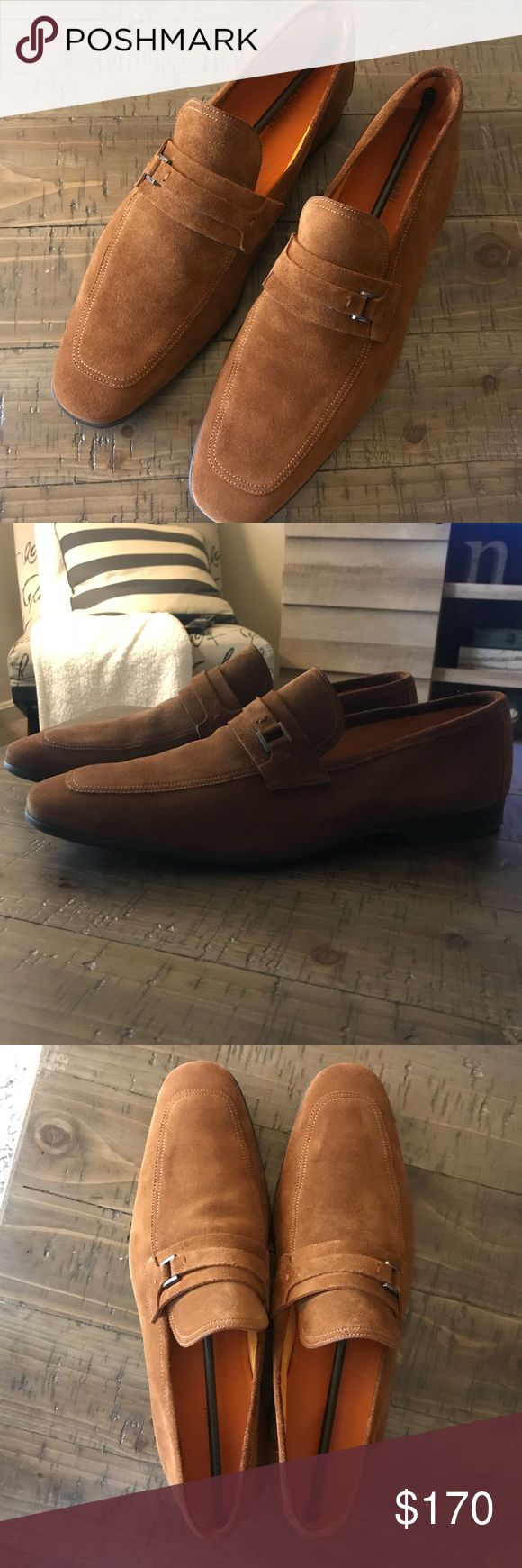 NEW Magnanni Loafers New in box Magnanni Suede loafer in cognac color with buckl...