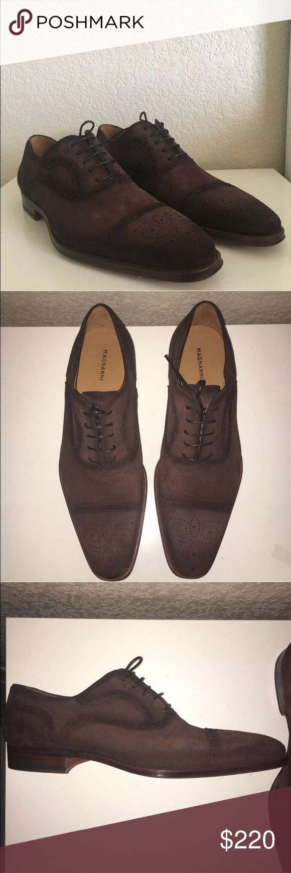 New Magnanni Men's Shoes New without box Magnanni Wing Tip Riley Shoes. Brow...