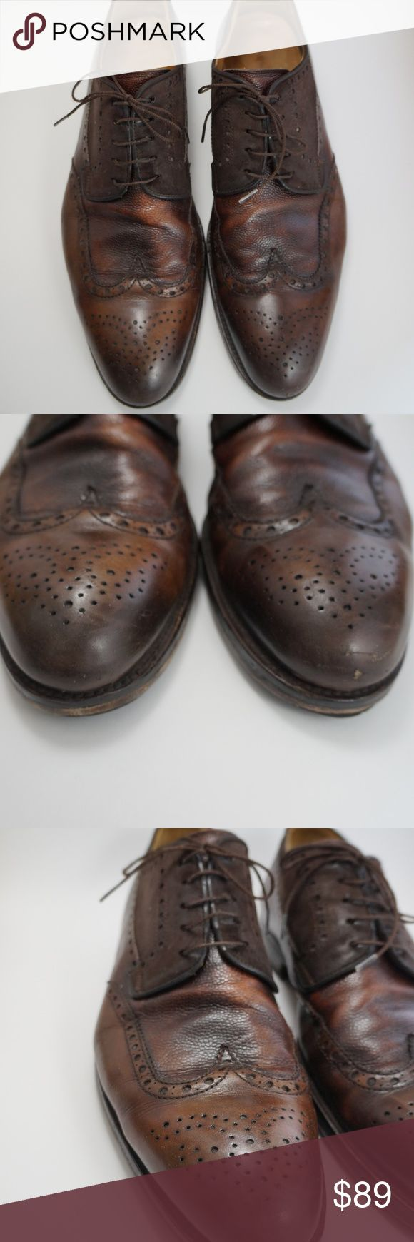 Magnanni  wing tip leather suede oxford 15 Gently used Magnanni wing tip oxford ...