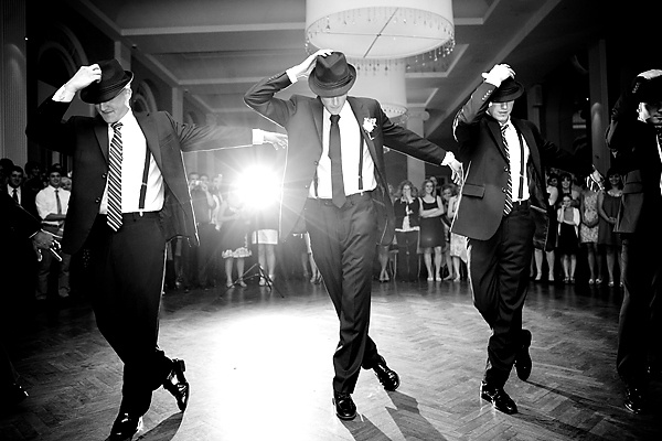 Grooms + men* strutting their stuff is a must have. Love the hats and suspenders...