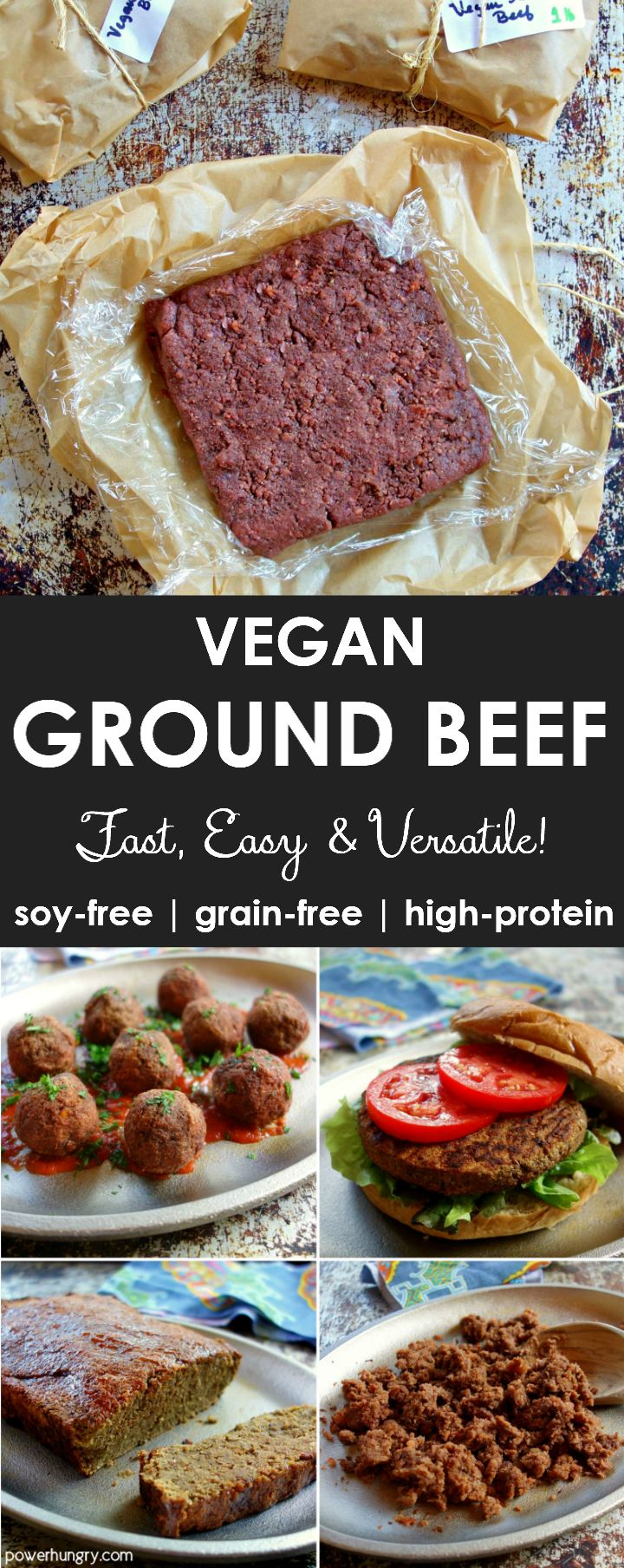 """Vegan """"ground beef!"""" It is easy to prepare, high in protein (12.4 g ..."""