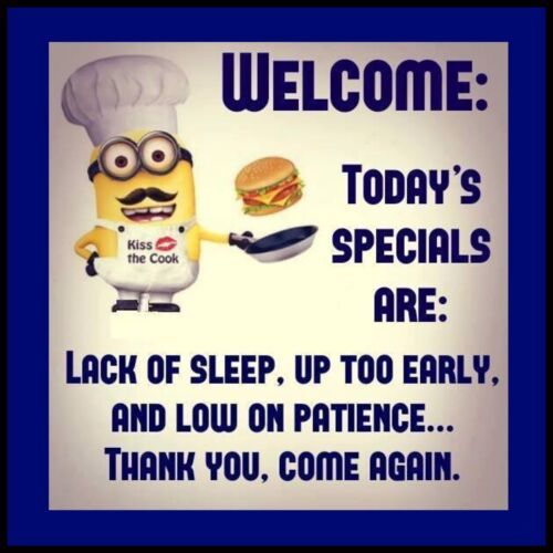 "Minion Meme Today's Specials 4""x4"" Flexible Fridge Magnet #minions #memes #humor..."