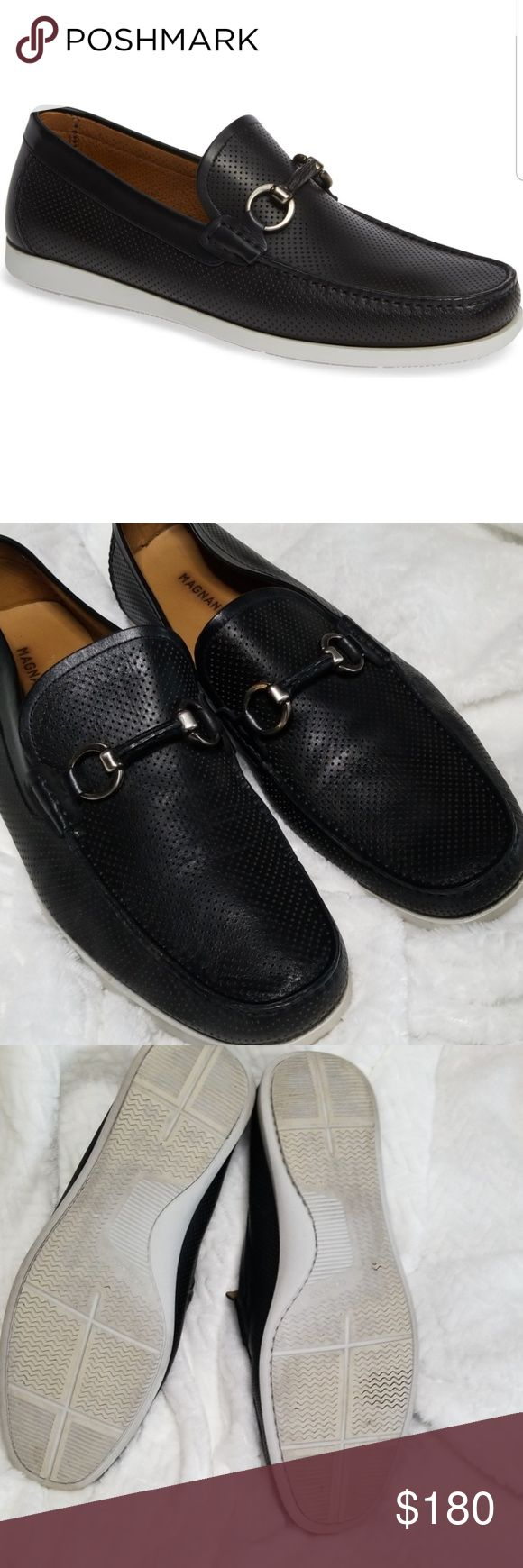 Magnanni Beasley Performed Moc Toe Bit Loafers Made in Spain, Italian calfskin s...