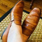 Mens USED/WORN Magnanni Used/Worn Tan Slip-0n Loafer Shoes 13D Made in Spain  #D...