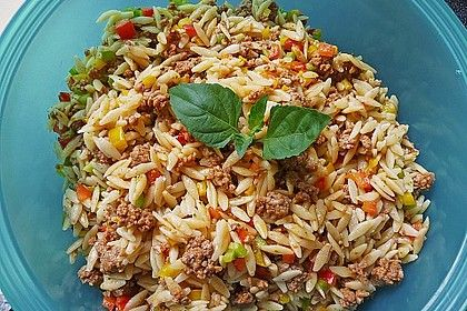 Kritharaki salad with minced meat from FrauMausE | Chefkoch.de