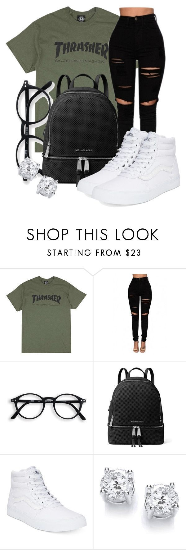 Untitled #570 by msfts-rep on Polyvore featuring MICHAEL Michael Kors and Vans -...