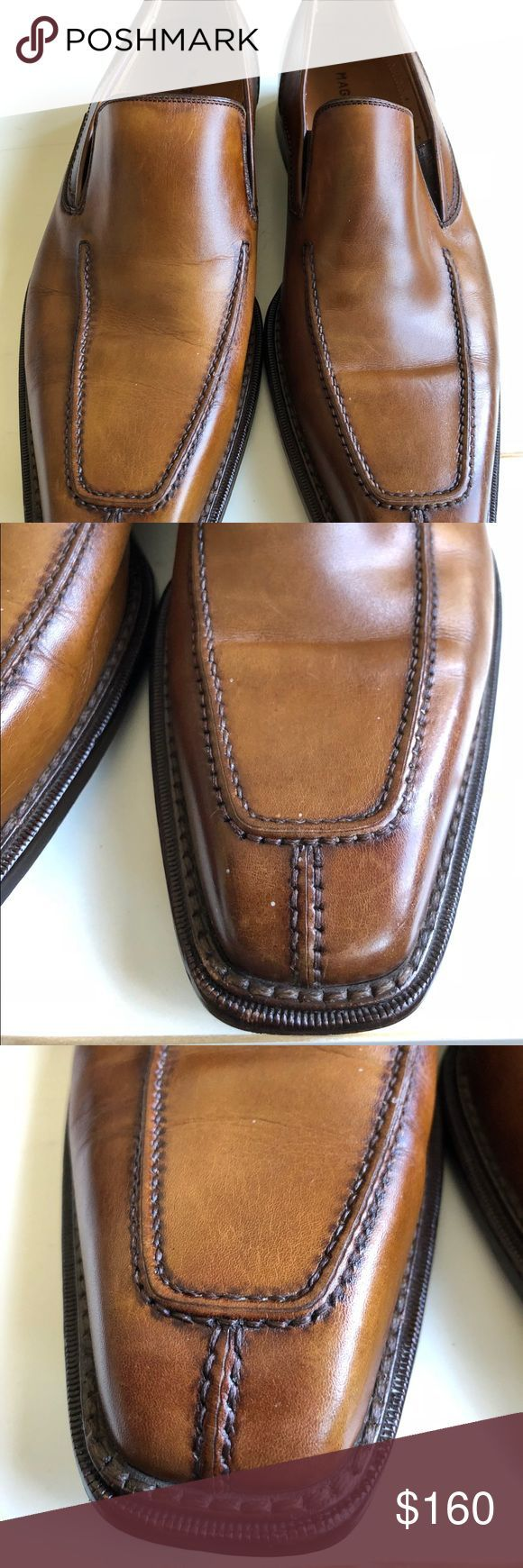 Magnanni Mens Genuine Leather Slip On Loafers Excellent condition with no flaws ...