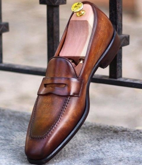 Men New Loafer Dark Brown Shoes Collection in Sale Price