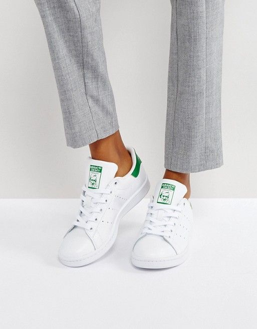 adidas Originals Stan Smith sneakers in white and green