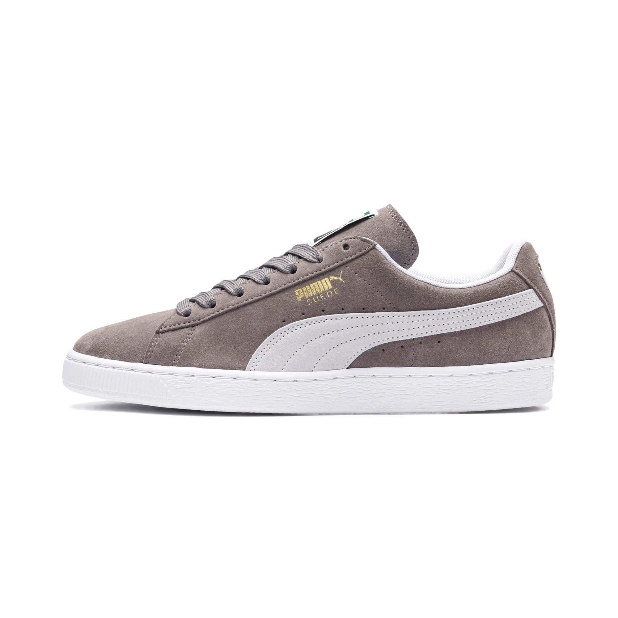 Men's PUMA Suede Classic+ Trainers in Steeple Grey/White size 11.5