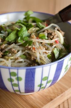 Glass noodle salad with minced meat - Addictive! | Pi times butter