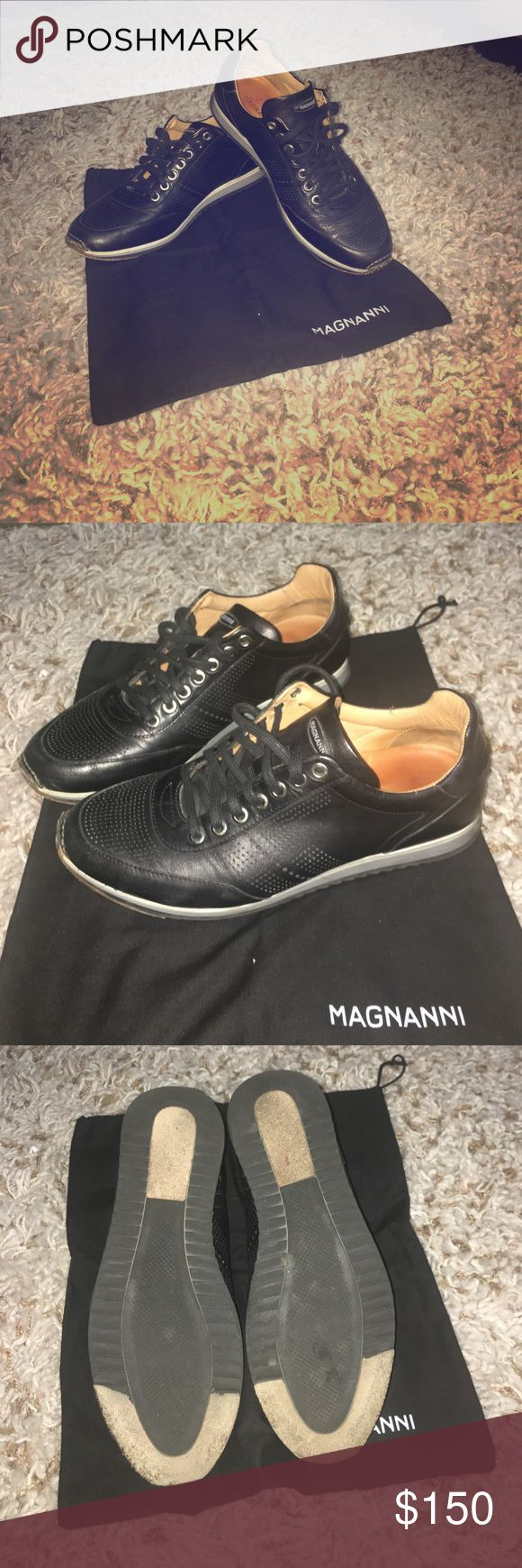 Men's Magnanni Shoes Expensive Magnanni shoes!!  Hand finished calfskin snea...