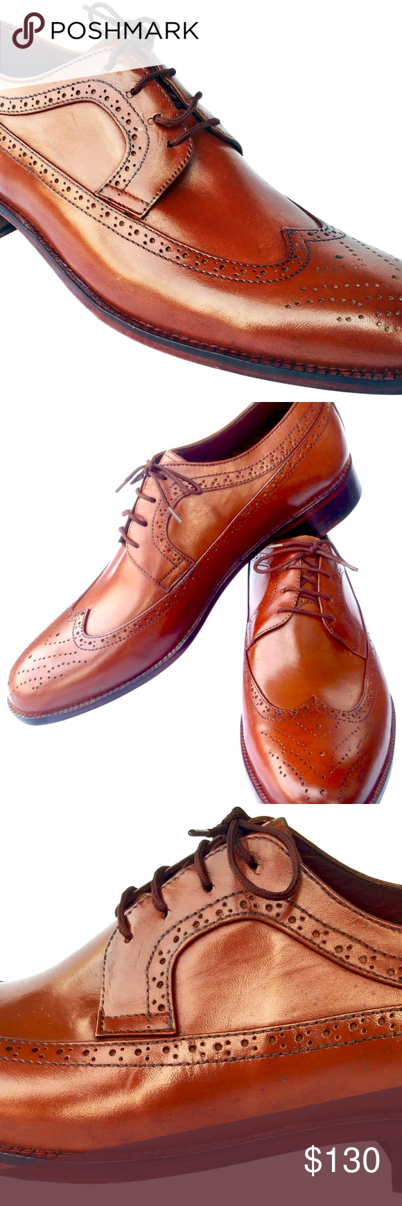 Handmade Oxford Brook Style Brown Leather Shoes. These Johny Weber oxford brook ...