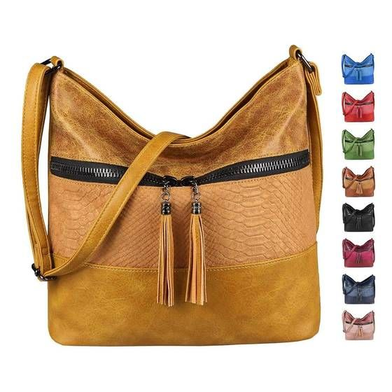 OBC Women's Bag Shopper Crossbody Shoulder Bag Crossbody Bag Leather Look Crossover Tote Bag Bucket Handbag