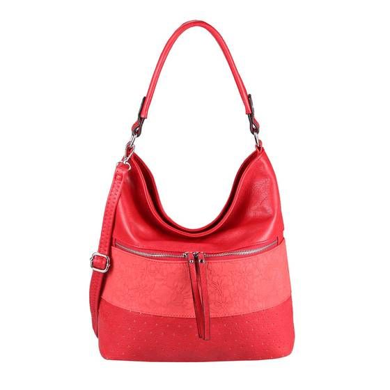 OBC Ladies Bag Floral Tote Tote Bag Handbag Shoulder Bag Shoulder Bag Bucket Bag Leather Look Hobo Crossbody Red