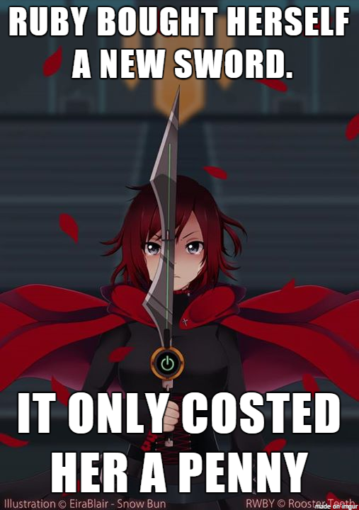 A small puddle of RWBY memes