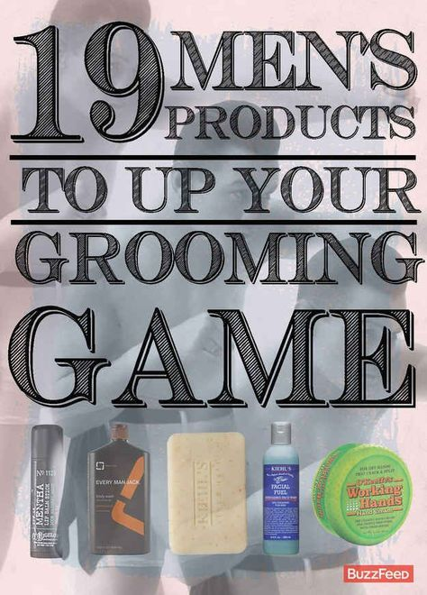 19 Men's Products To Up Your Grooming Game For the guys. And there's a c...