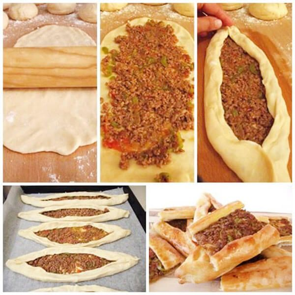 Today I introduce you to how to prepare a handy pancake with minced meat ...
