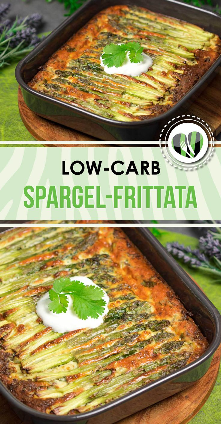 The asparagus frittata with minced meat is delicious and low carb. In addition, the recipe is ...