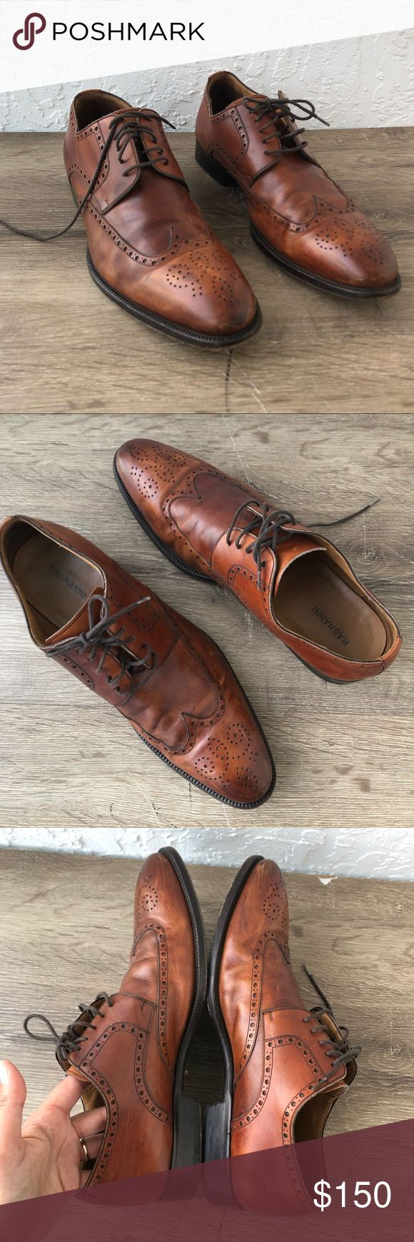 Magnanni brown leather wingtip oxford shoes 11M In excellent pre loved condition...