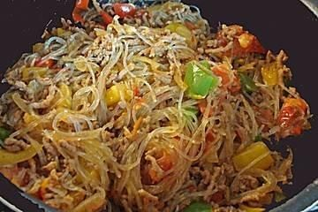 The perfect minced meat pan with glass noodles recipe with simple step-by-step ...