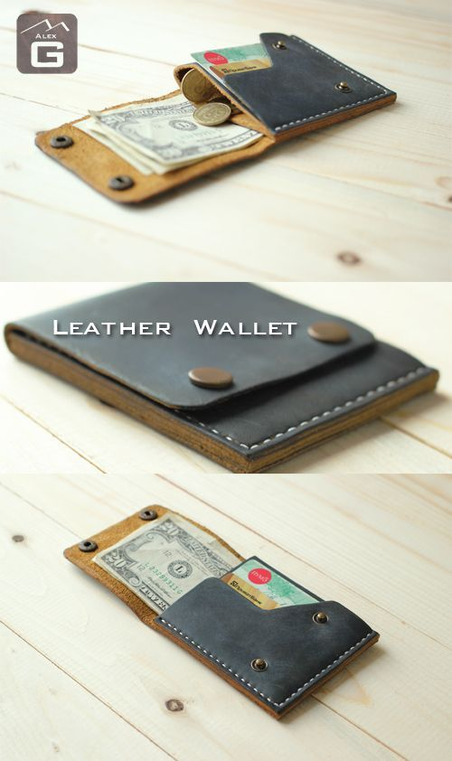 Leather Coin Wallet, Mens Leather Wallet, Mens Wallet, Coin Wallet, Leather Wall...