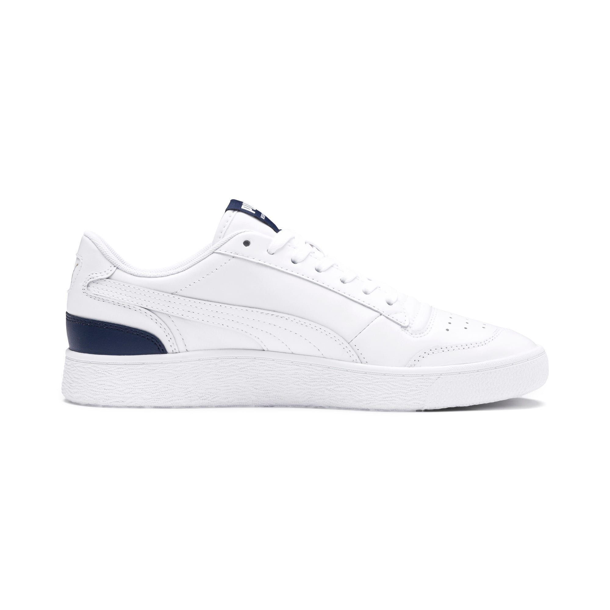 PUMA Ralph Sampson Lo Trainers in White/Peacoat/White size 10.5