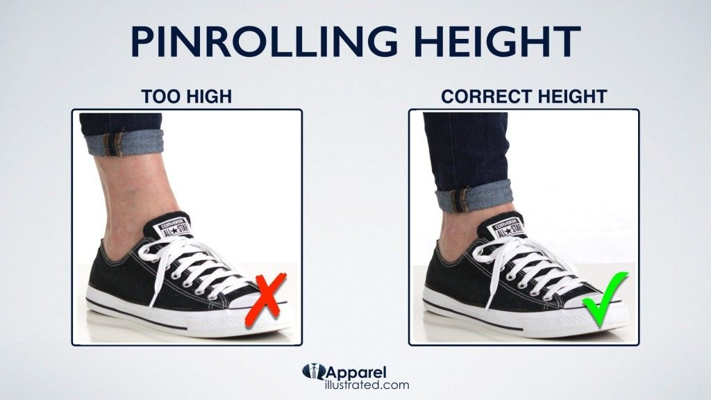 how to pinroll jeans with correct pinroll height