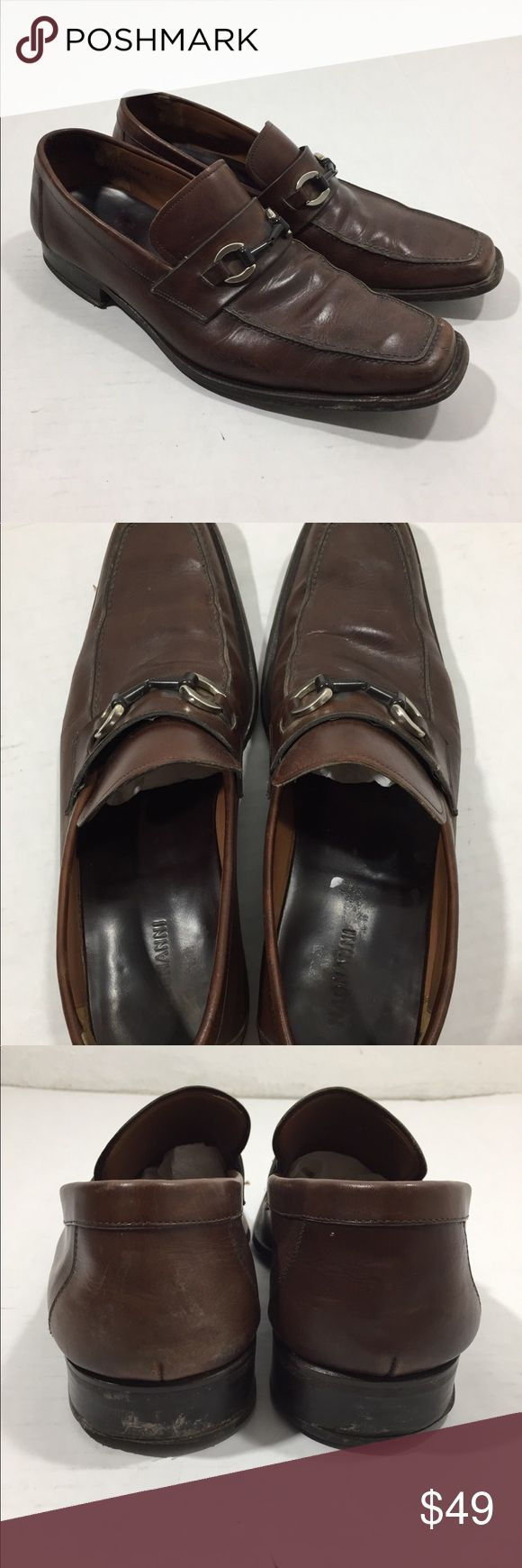 Mens Brown Magnanni Loafers  Dress Shoes 11 Message me for questions and measure...