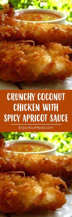 Crunchy Coconut Chicken with Spicy Apricot Sauce