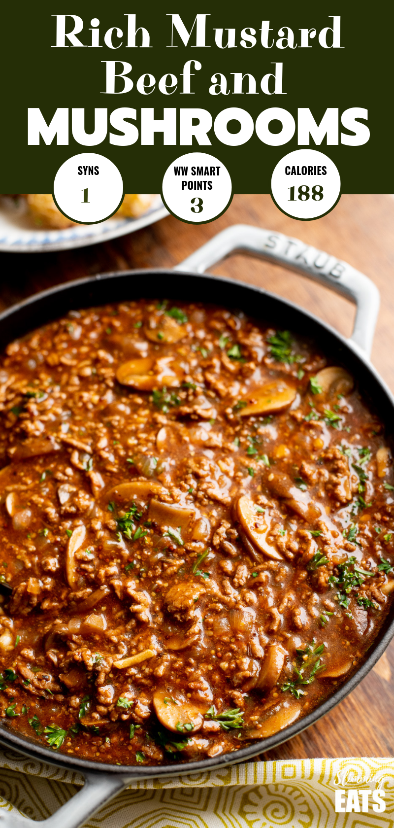 Low Syn Rich Mustard Beef with Mushrooms - the perfect meal for the whole family...