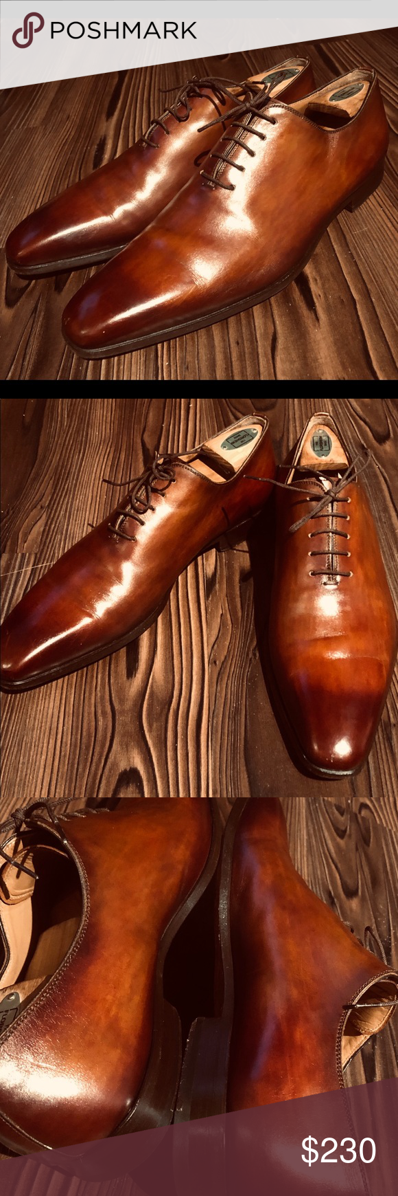 Magnanni Holecut Sz 10 burnished toe made in Spain Magnanni Holecuts oxfords in ...
