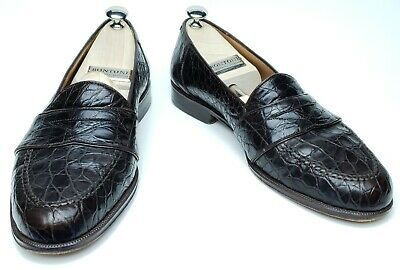 Magnanni Mens 9.5 M Louie Genuine Crocodile Brown Penny Loafers 5018 #fashion #c...