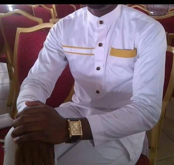 This a beautiful purely handmade African mens outfit for all occasion.   Availab...