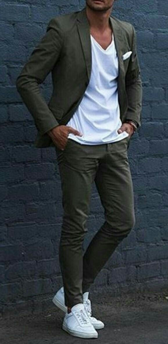 Business Casual with white sneakers and white T-shirt., #Business #casual #h ...