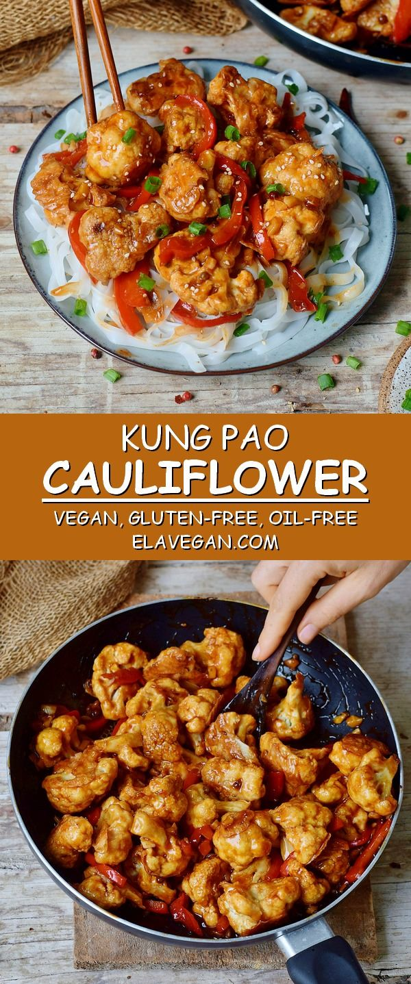 This Kung Pao cauliflower is a delicious stir-fry which is spicy, hearty, satisf...