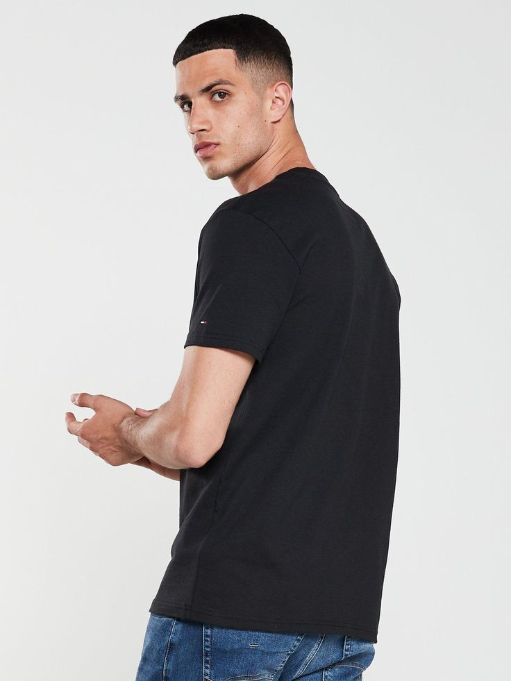 Tommy Jeans Classic Logo T-Shirt - Black, Black, Size 2Xl, Men - Black - 2Xl