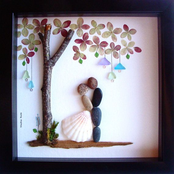 Wedding Gift Pebble Art-Unique Engagement Gift-Personalized Wedding present-Pers...