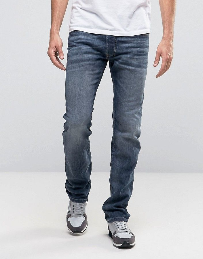 Diesel Safado straight fit jeans in 0885JK gray | ASOS