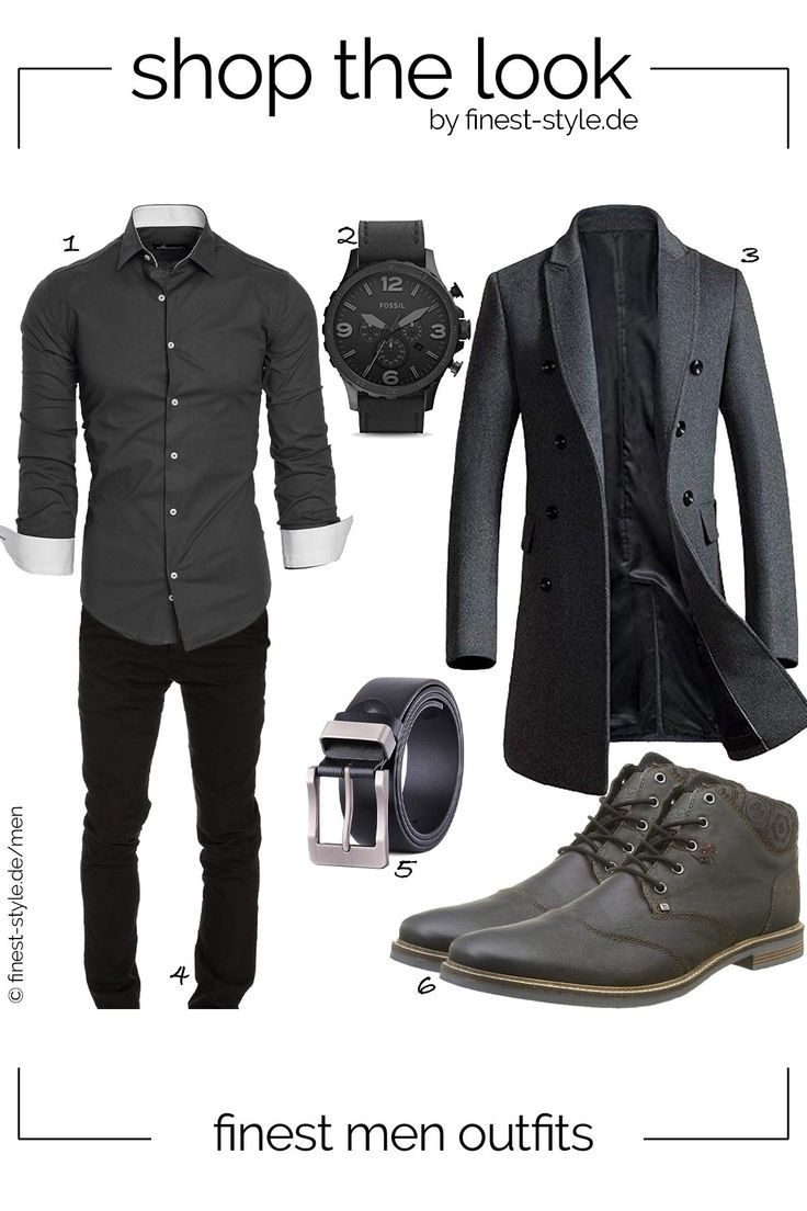 Casual men's outfit with parts from Fossil, Bugatti, XIANGUO, Vogstyle and Am