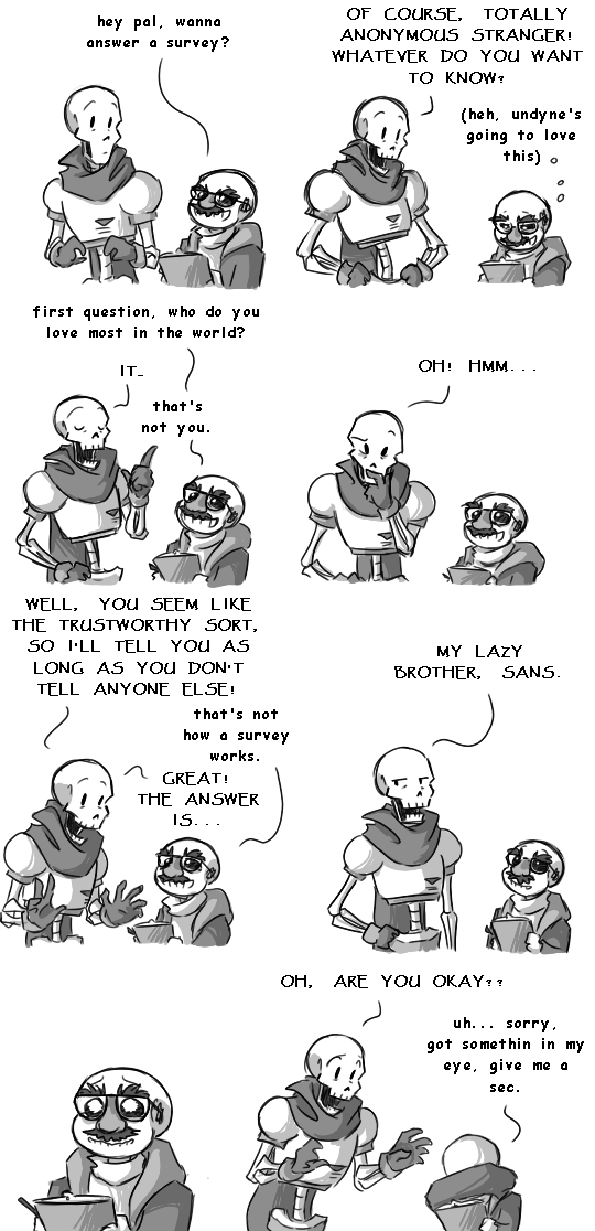 You played yourself, Sans. Sans, Papyrus (c) Undertale: the return of the grouch...