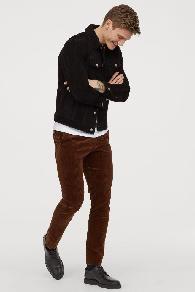 Corduroy Pants - Dark brown - Men | H&M US