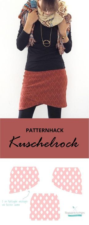 Patternhack: a wrap skirt for cold days - The cuddly skirt for women by Rap ...