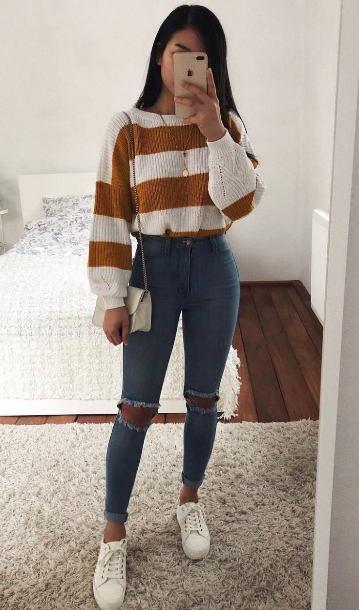30 chic ways to wear jeans in spring 2019 - outfits - # breakfast ...